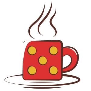 This is the logo for the Dice Latte
